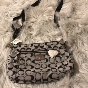 Coach grey and Black bag
